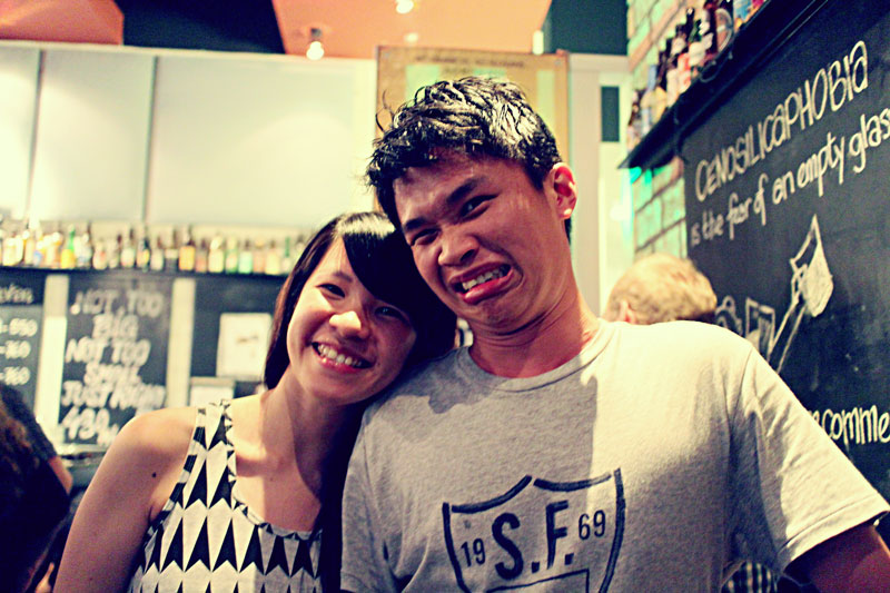 Edward from The Great Beer Experiment and his girlfriend,