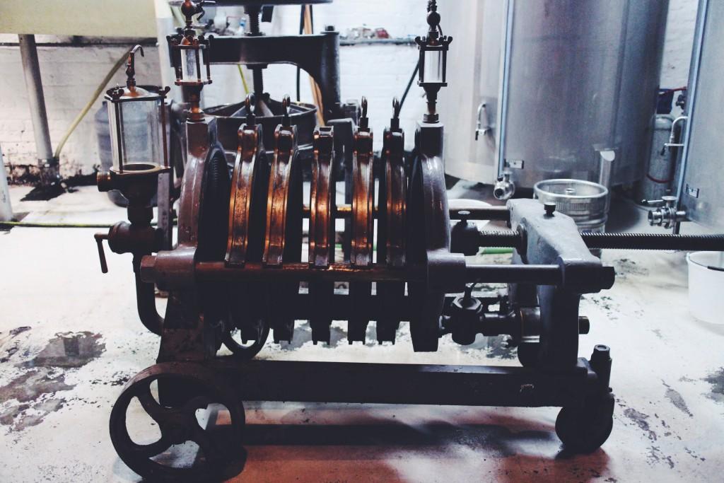The fruit press.