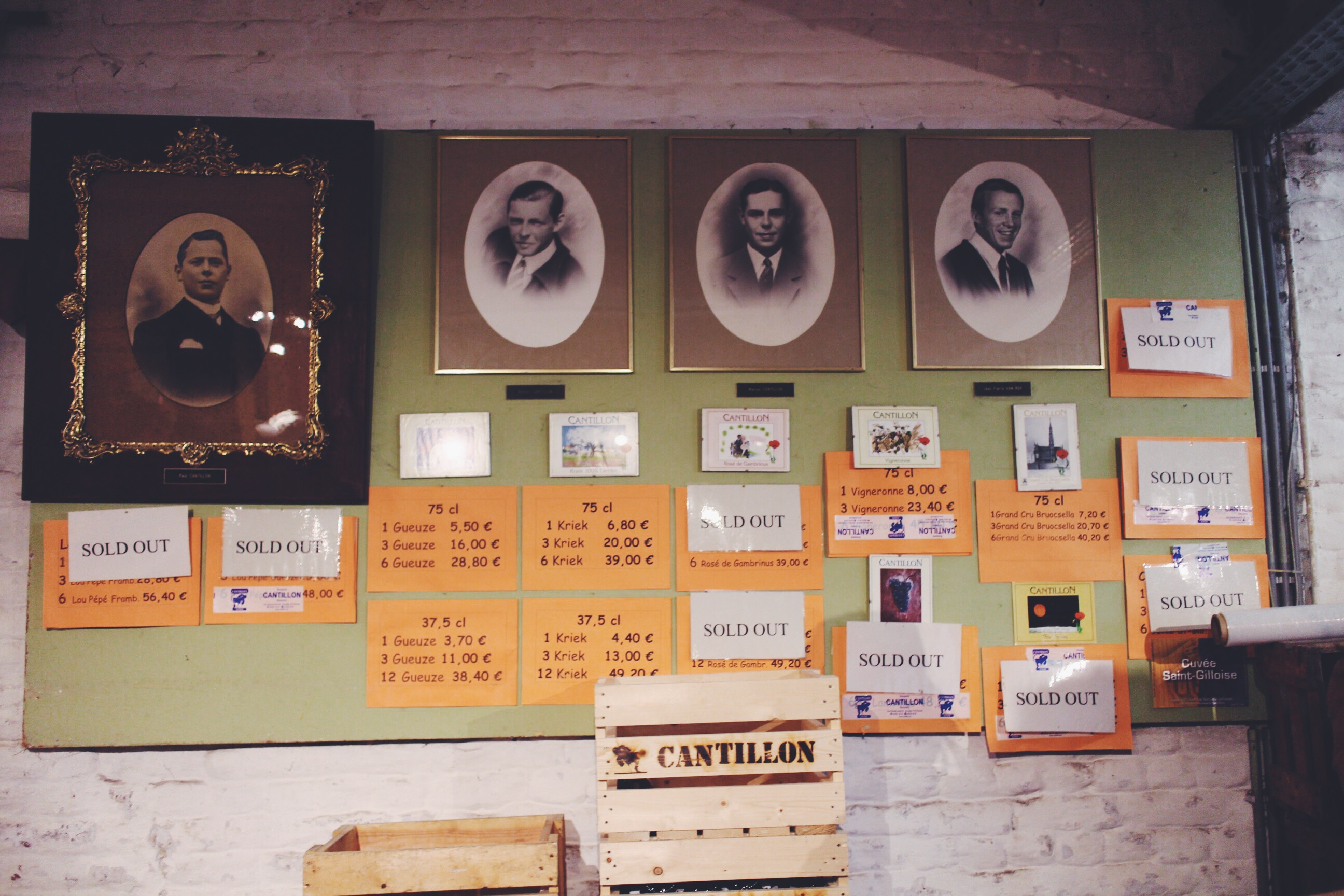 The many generations of the Van Roy-Cantillon family, and beer bottle prices.
